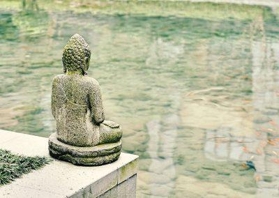 Buddha am Teich